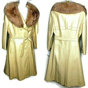 Vintage Heidi 1960s 70s Boutique Leather Blond